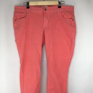 Old Navy pink Corduroy ankle pants